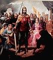 Americo Makk, St. Stephen painting detail.JPG
