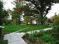 Amherst Massachusetts view from backyard of Emily Dickinson house looking southeastwards.JPG