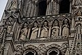 Amiens - Place Notre-Dame - View East on (part of) the Gallery of 22 Kings in the West Façade of la Cathédrale Notre-Dame d'Amiens.jpg
