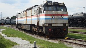 GE E60 - Ex-Amtrak E60MA No. 603 preserved at the Railroad Museum of Pennsylvania