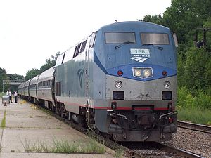 Amtrak train 69 at Saratoga Springs station.