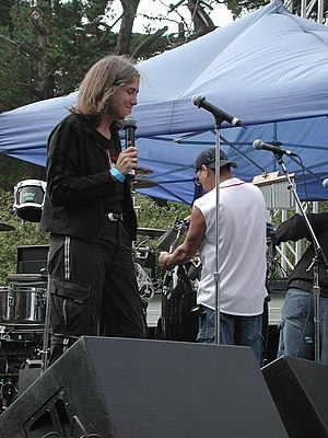 Amy Goodman - Goodman speaking at Power to the Peaceful Festival, San Francisco 2004.