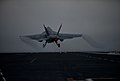 An F A-18E Super Hornet launches off USS Carl Vinson. (8717415519).jpg