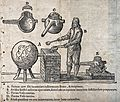 An alchemist at a furnace with a large 'receiver', with diag Wellcome V0025560.jpg
