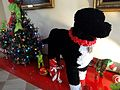 An oversized statue of First Dog Bo, made by 100 volunteers using 40,000 pipecleaners, 2010.jpg