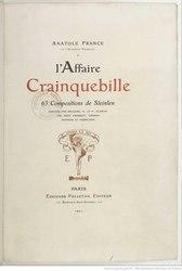 Anatole France: L'Affaire Crainquebille