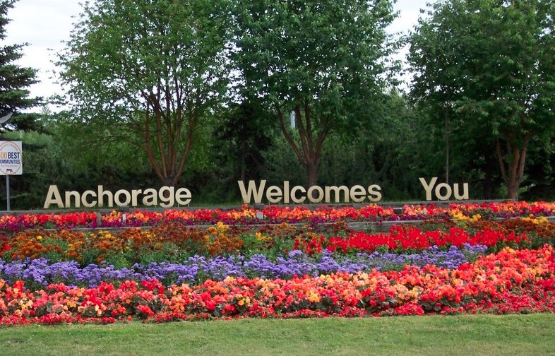 Anchorage Welcomes You sign