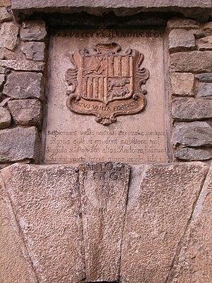 Casa de la Vall - Coat of arms of Andorra
