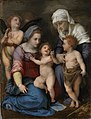 Andrea del Sarto - Heilige Familie (Maria mit Kind, dem Johannesknaben, der hl. Elisabeth und zwei Engeln) - 501 - Bavarian State Painting Collections.jpg