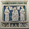 Andrea della robbia, madonna con san francesco e san cosma per francesco sassetti, 1470 ca..JPG