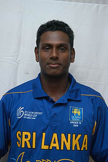 Angelo Mathews Sri Lankan cricketer