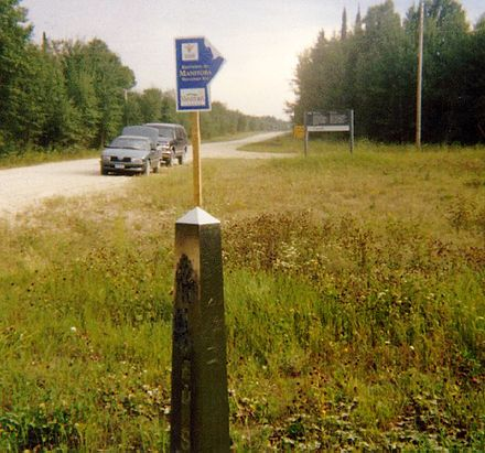 unstaffed road crossing at angle inlet minnesota