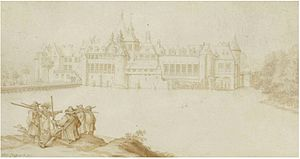 Tervuren - Tervuren Castle near Brussels, by Anthonie Crussens, c. 1655