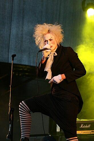 Agnete Kjølsrud - Agnete Kjølsrud on stage with Animal Alpha at Vinjerock in 2008.