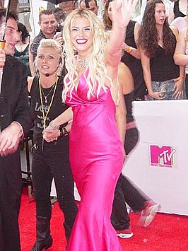 Anna Nicole Smith tijdens de MTV Video Music Awards (2005)