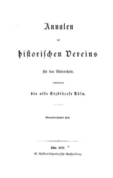 File:Annalen des Historischen Vereins für den Niederrhein 34 (1879).djvu