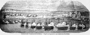 Houston Stewart - The bombardment of Kinburn during which Stewart commanded the British fleet