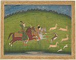 Anonymous - Prince and Princess Hunting Blackbuck - 1978.153 - Art Institute of Chicago.jpg