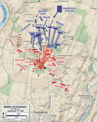 Battle Of Antietam Wikipedia - Antietam on us map