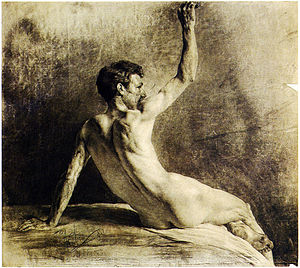 Anton Ažbe - Ažbe, himself a master of human anatomy (an 1886 class study pictured), enforced figure drawing studies that were bitterly resented by Wassily Kandinsky.