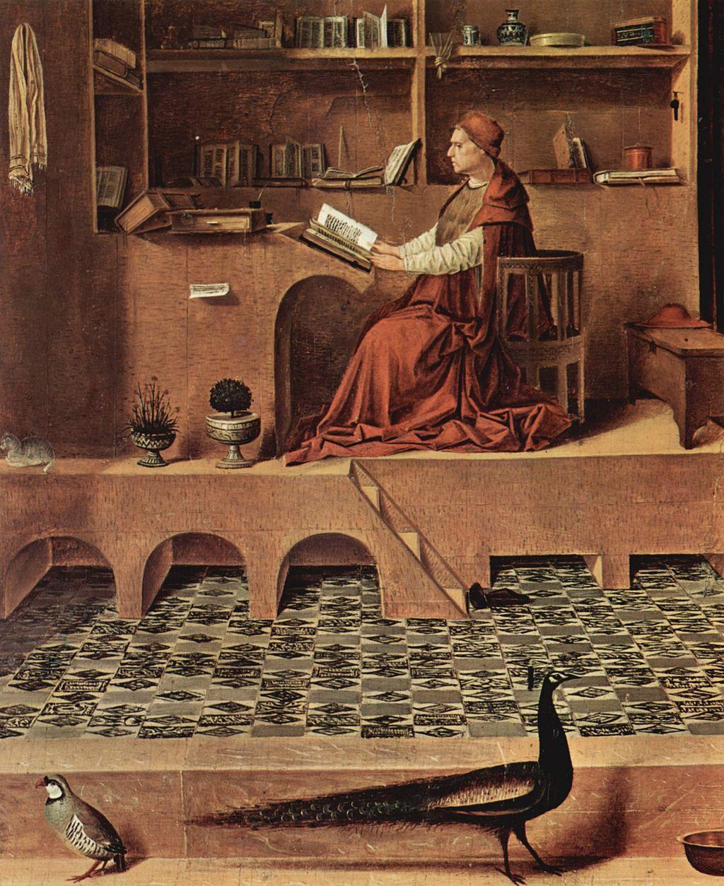 Antonello da Messina (1430–1479), San Girolamo nello studio (particolare), 1474-1475 circa, olio su tavola di tiglio, 45,7×36,2 cm, Londra, National Gallery