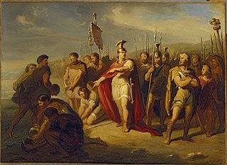 Anno 40. Een Kaninefaat bespot keizer Caligula om zijn overwinning op de zee