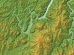 Aonoyama Volcano Group Relief Map, SRTM-1.jpg