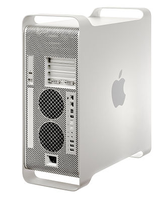 Power Mac G5 - The back of a late 2005 model.