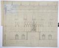 Arbetsritning, fastigheten nr 4 Hamngatan. Fasad - Hallwylska museet - 105265.tif