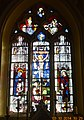 Arconcey Church Stained Glass Crucifixion.JPG