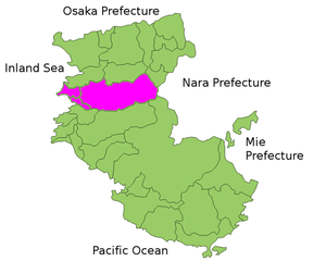 Arida District, Wakayama - Location of Arida District in Wakayama Prefecture