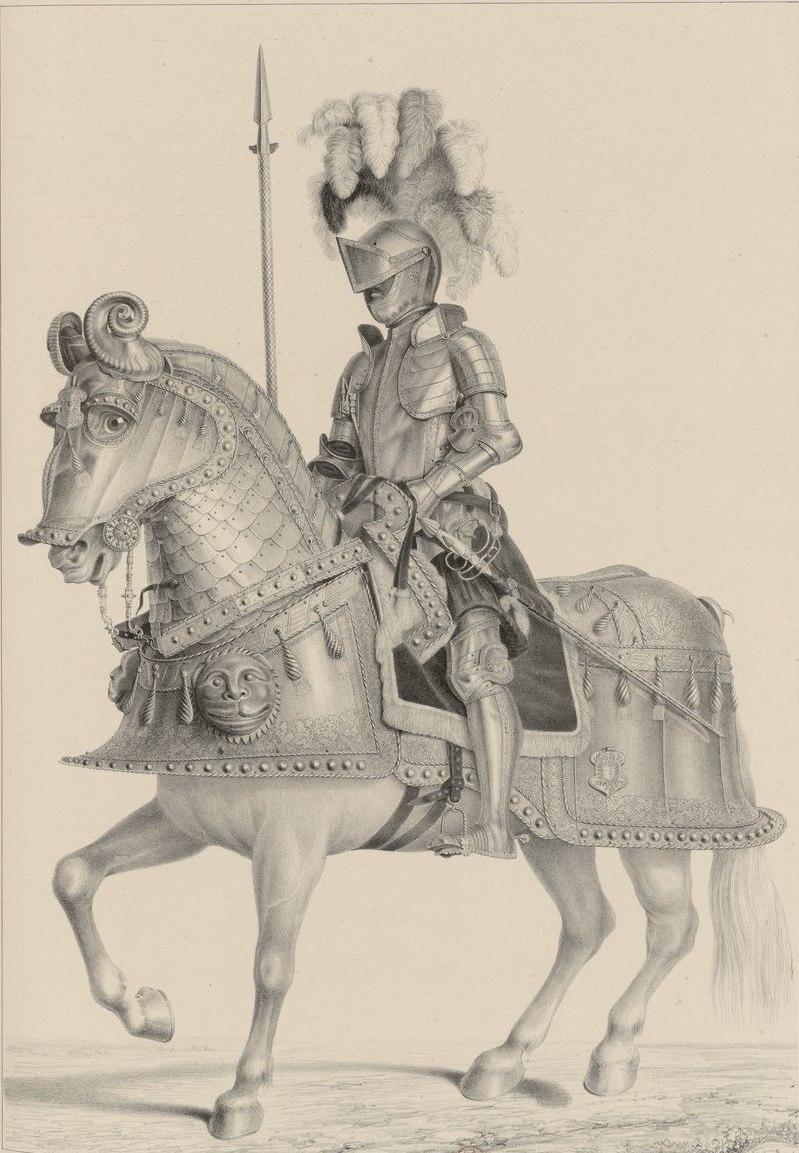 Armadura de Carlos V a caballo