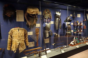 Exhibition of cultural heritage objects - exhibition display case