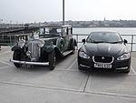 Armstrong Siddeley c.1938 & Jaguar XF S 3.0d 2010 (15114208330).jpg