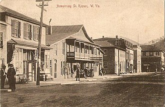 Keyser, West Virginia - Armstrong Street in Keyser, early 1900s.