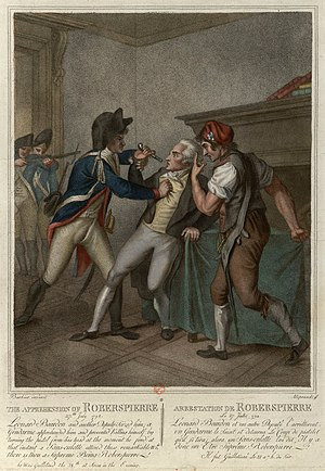 The arrest of Robespierre.