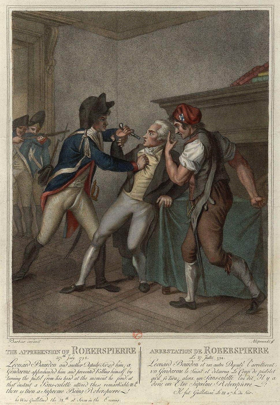 Arrestation de Robespierre