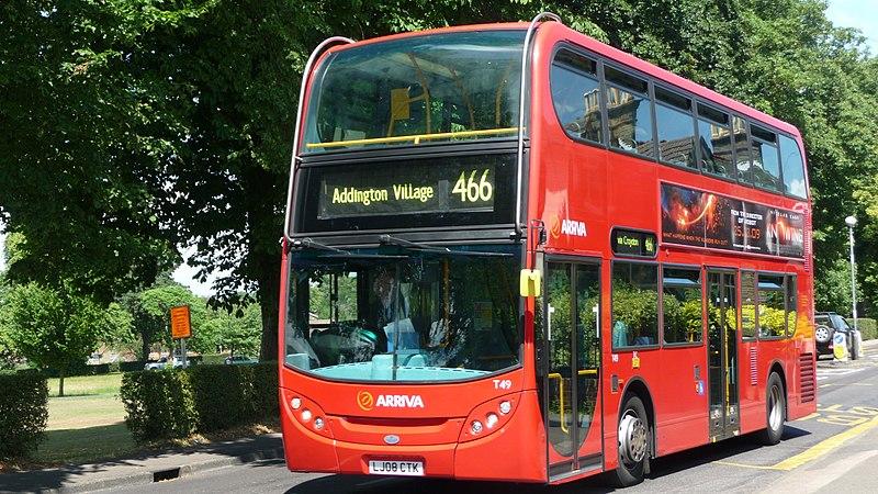 ride: in a double decker bus