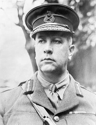 Croix de guerre 1914–1918 (France) - Canadian General Sir Arthur William Currie, a foreign recipient of the 1914-18 Croix de guerre with palm