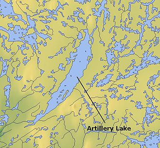 Artillery Lake - Map