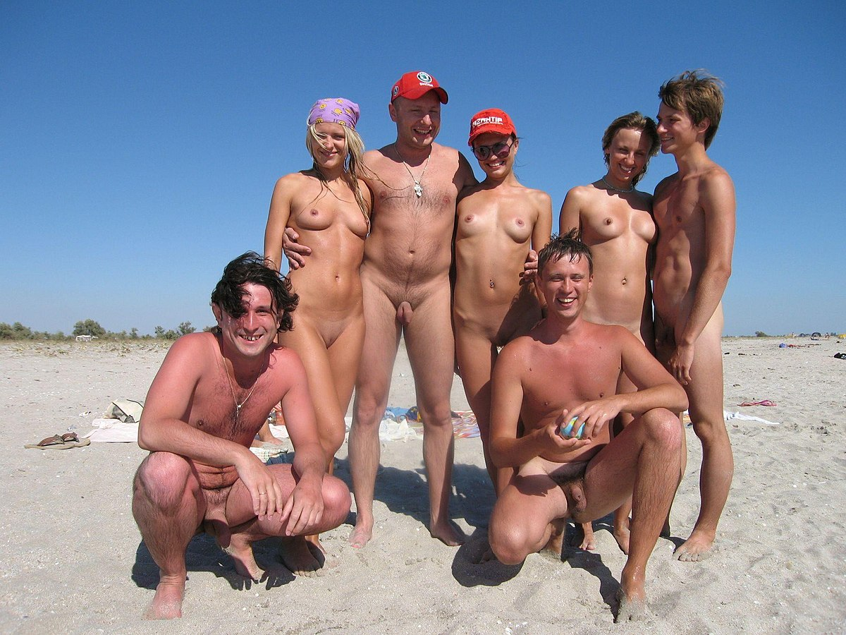 Nude Men And Women On Beach