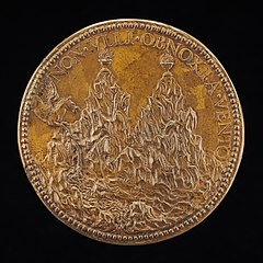 The Summits of Pindus, on Each a Flaming Vase [reverse]
