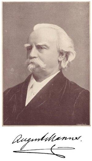 August Manns - August Manns in 1898