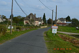 The road into Auriac