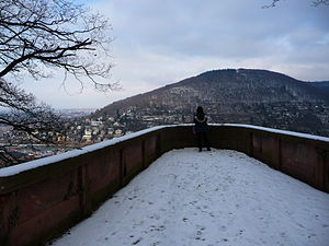 Gaisberg (Heidelberg) - Image: Aussichtskanzel Riesenstein
