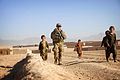 Australian Army Pvt. Alex Holahan, center, patrols in Tarin Kowt, Uruzgan province, Afghanistan, July 26, 2013 130726-Z-FS372-378.jpg