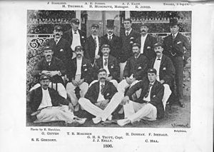 Bob Thoms - Thoms pictured back row 1st right with the Australian cricket team in England in 1896