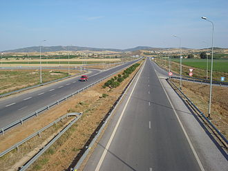 Transport in Tunisia - Autoroute A4 on (May 2008)