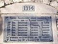 Auvelais Cimetiere Francais plaque liste unites 1914 Belgium 20070101 (06) Didier Misson.JPG