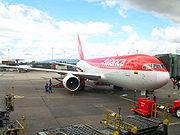 Avianca 767-200ER parked at the El Dorado Terminal